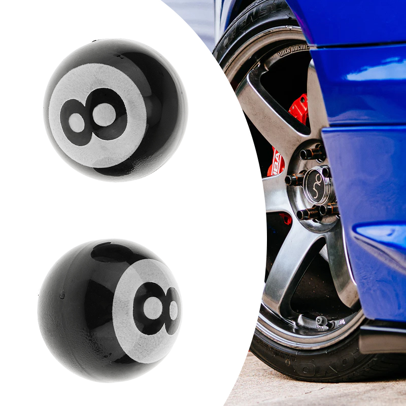 7.5mm Car Tire Valve Cover No. 8 Ball Tire Wheel Rims Stem Air Valve Caps Tyre Cover For Auto Truck Motorcycle Atv Quad Etc 2019
