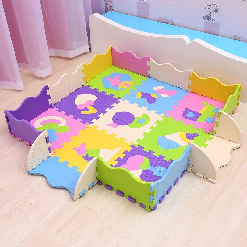 EVA bébé tapis de jeu 9 pièces mousse puzzle tapis pour enfants gym bébé activité doux étage numéros animaux modèle jouets Mei Qi Cool