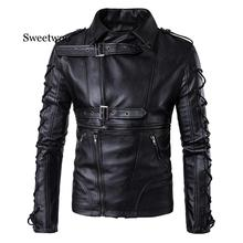 2020 mens faux fur coats clothes fashion pilot motorcycle leather jacket men slim fit