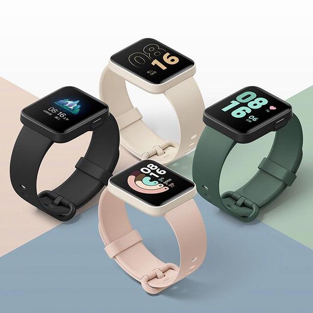 "Xiaomi Mi Watch Lite GPS Bluetooth 5.1 Smart Watch Fitness Heart Rate Monitor 1.4"" TFTLCD Screen 5 ATM Waterproof mi band 2"