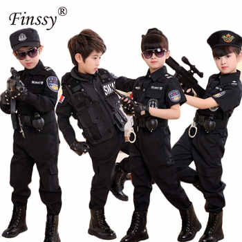 Boys Policemen Costumes Children Cosplay for Kids Army Police Uniform Clothing Set Summer Camp Performance Uniforms Dress Up Set - DISCOUNT ITEM  14% OFF All Category
