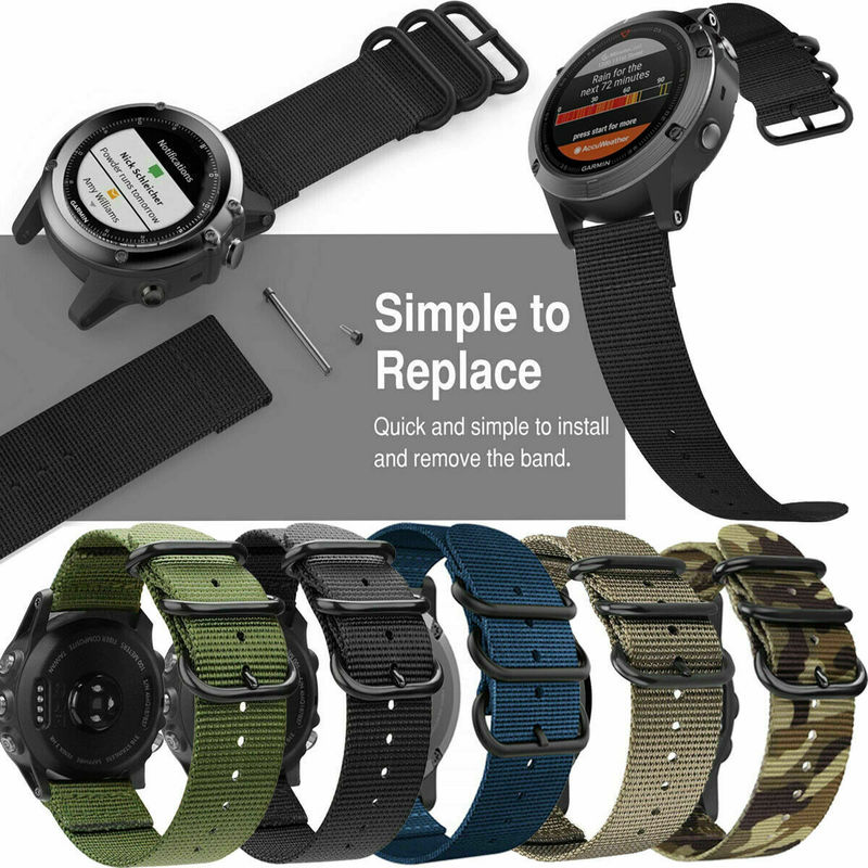 Weave Nylon Watch Band Belt With Tool For Garmin Fenix 5/5 Plus/Forerunner 935 22mm 26mm Sports Strap Loop Military Wristband