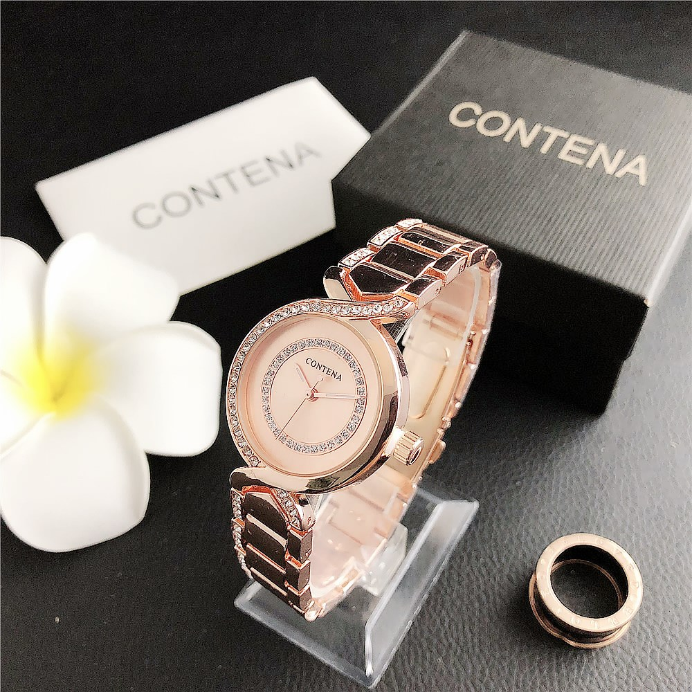 SET  6545D    New Women's Fashion Minimalist Watch with Diamond Dial