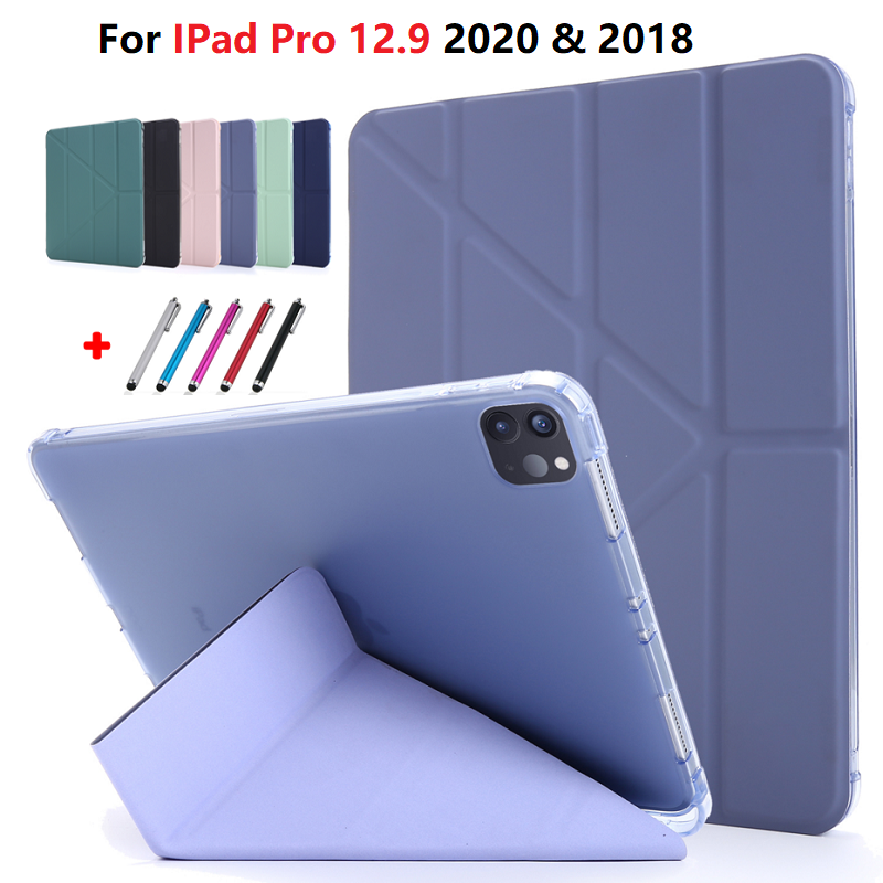 For iPad Pro 12 9 2020 2018 Case Tri Fold Smart Stand Cover For iPad Pro