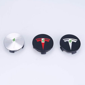 Image 2 - Tesla modeli 3 S X paslanmaz çelik tekerlek merkezi kapakları göbek kapağı Logo rozeti 4 adet
