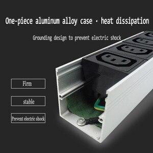 Image 3 - C13 Protection contre les surcharges industrielle 2M prise dextension 4 prise ca prise ue 16A 250V alliage daluminium PDU multiprise