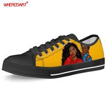WHEREISART Women Vulcanize Shoes Teens S