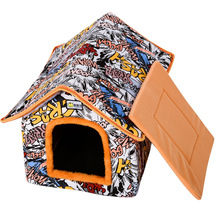 Cat Nest Kennel Pet Nest Detachable and Washable Cat's Nest Pet House Cattery Dog House Small Dog and Cat House Breathable Nest jiahui a038 detachable cotton fabric sponge pet dog cat house kennel red white grey