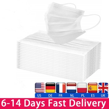 10/50/100/200pcs White Disposable Face Mask 3 Layer Non-woven Mouth Safety Breathable Protective Anti Pollution Dust Masks - discount item  35% OFF Workplace Safety Supplies