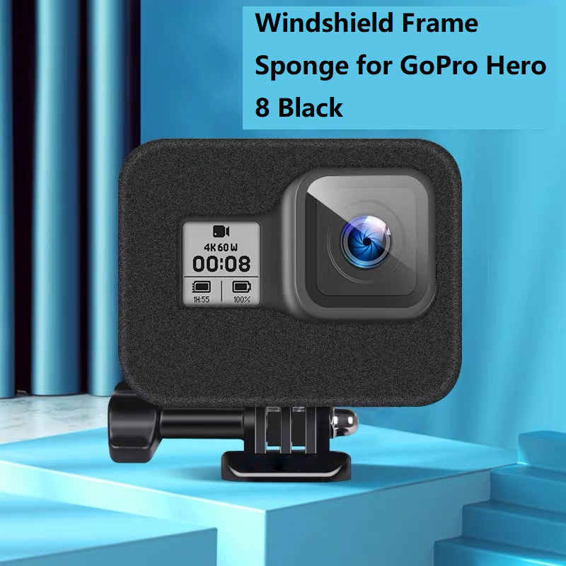 Windslayer for GoPro Hero 8 Black Windshield Wind Foam Cover Wind Noise Reduction Windproof Case for Go Pro 8 Camera Accessories
