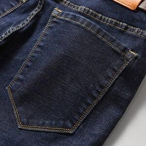 Image 5 - 2019 New Mens Classic Jeans Elastic Skinny Solid Color Denim Jean Male Black Blue Slim Fit Pants Brand Clothes