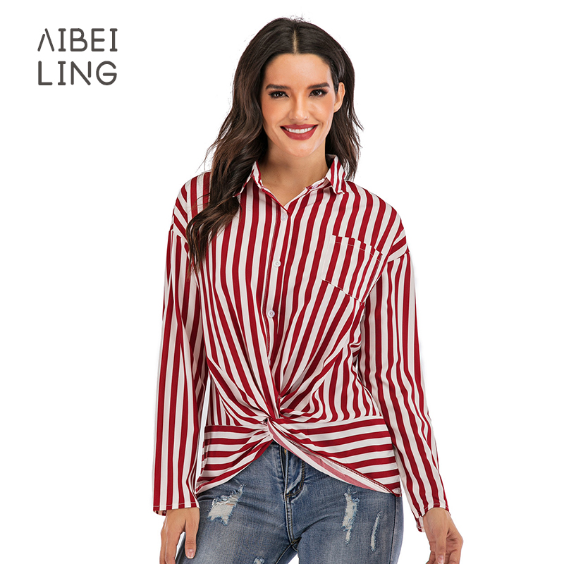 New Spring Autumn Women Blouse Sleeve Work Shirts Women office Tops Striped blouse for business