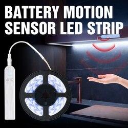 PIR Led détecteur de mouvement LED LED bande lampe DC5V Led sous armoire lampe ruban ruban Diode lumière alimenté par batterie TV rétro-éclairage