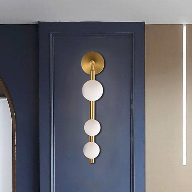 Artpad Lighting-Decorative Wall-Sconces-Light for Corridor Bathroom TV Background Golden Black Metal Wall Mirror Vanity Light G9