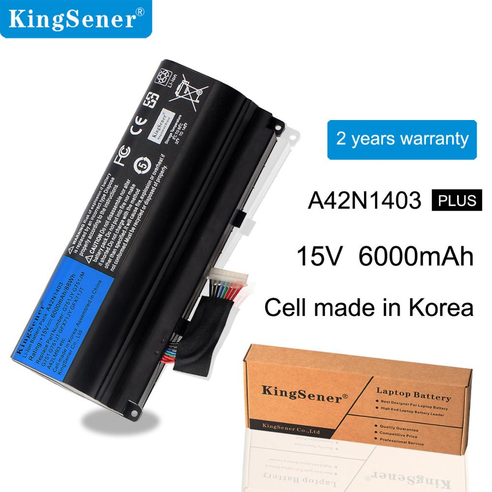 Kingsener A42N1403 Battery Replacement For <font><b>ASUS</b></font> <font><b>ROG</b></font> G751 GFX71JY GFX71JT G751JY G751JM <font><b>G751JT</b></font> A42LM9H A42LM93 4ICR19/66-2 8cells image