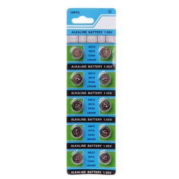 10Pcs Alkaline Battery AG13 1.5V LR44 386 Button Coin Cell Watch Toys Batteries Control Remote SR43 186 SR1142 LR1142 1