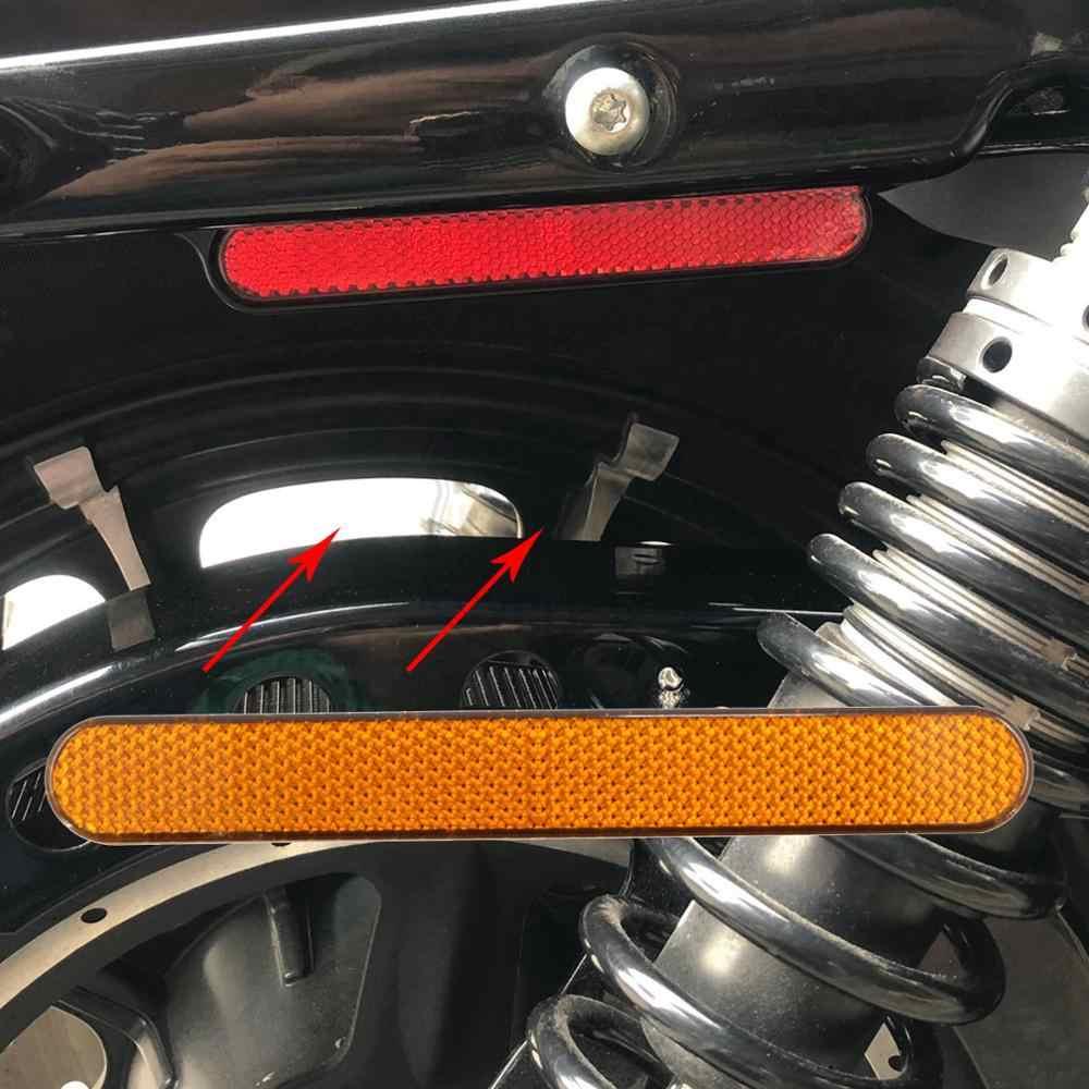 Motocykl reflektor ostrzeżenie o bezpieczeństwie naklejka osłona zatrzasku siedziska reflektor dla Harley Sportster XL Dyna Touring Electra Glide