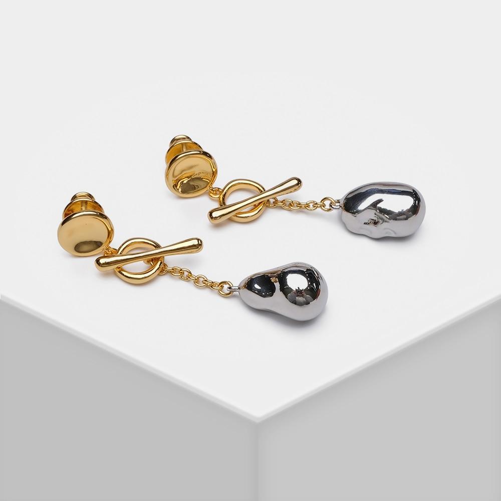 EH15026-H11 Amorita Boutique Abnehmbare Design Stilvolle metall Barock perle form tropfen ohrringe