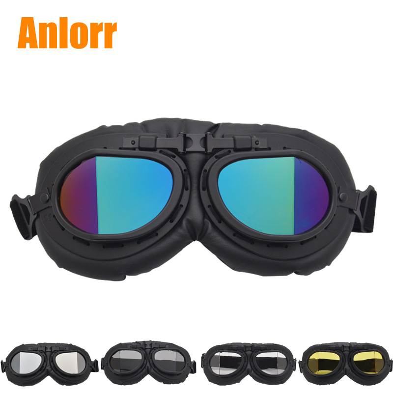Currently Available Wholesale Retro Harley Goggles Motorcycle Glasses Off-road Eye-protection Goggles Knight Goggles Impact Resi