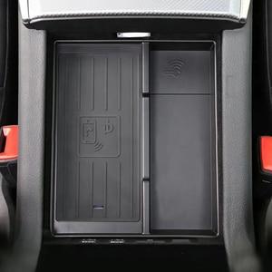 Image 2 - 아우디 A6 C8 A7 2019 2020 2021 15W 자동차 QI 무선 충전기 빠른 충전 팔걸이 상자 충전 케이스 충전 홀더 액세서리