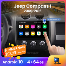 AWESAFE PX9 for Jeep Compass 1 2009 2016   Car Radio Multimedia video player GPS No 2din 2 din Android 10.0 2GB+32GB