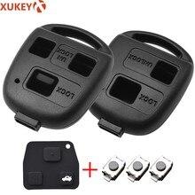 2 3 botón Pad interruptor de carcasa de llave a distancia de coche para Toyota RAV4 Prado Corolla Land Cruiser Previa Tarago Pixis prisa Celica