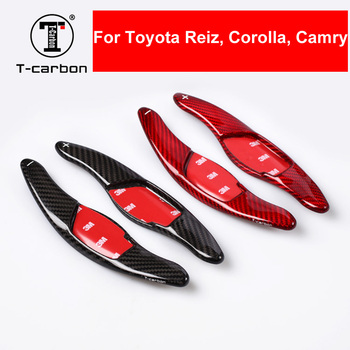 Car Styling Real Carbon Fiber Steering Wheel Shift Paddle Shifter Extension For TOYOTA Toyota Reiz Corolla Camry Interior Inner