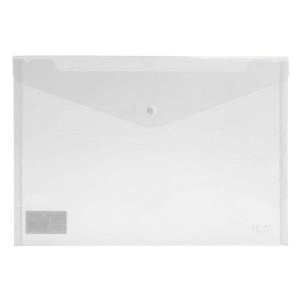 Deli 5505 10 Pcs Transparent Plastic Closure Folder Documents Bag A4 File Cover Business And School Filing Products Wholesale