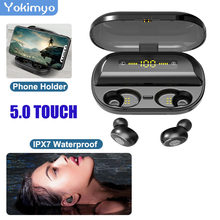 V5.0 Touch Tws Waterproof Wirless Bluetooth Earphone Gaming Headset LED-Display Mini Sport Bluetooth Earphone Stereo For Iphone(China)