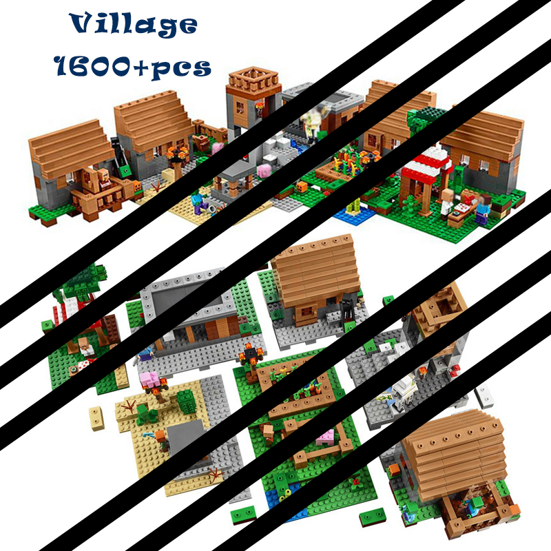 1600+pcs Model Building Toys Hobbies Compatible 21128 Village Blocks Bricks Educational For Children