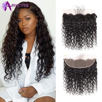 Arietis Hair 13X4 koronkowe przednie zapięcie 100 ludzkie włosy koronkowe przednie brazylijskie włosy mocno falowane w stylu brazylijskim Remy przednie zamknięcie 8-20 Cal tanie i dobre opinie Koronka frontal Włosy remy Głęboka fala 150 Natural Color Hand Tied 1 Piece Only Top Hand Selected 100 Human Hair Healthy Bouncy and Gorgeous Hair