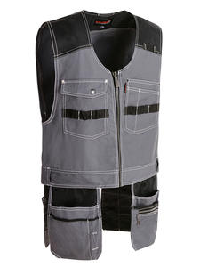 Bauskydd Work-Vests Multi-Pockets High-Quality Outdoor Male Multifunction-Tool Men
