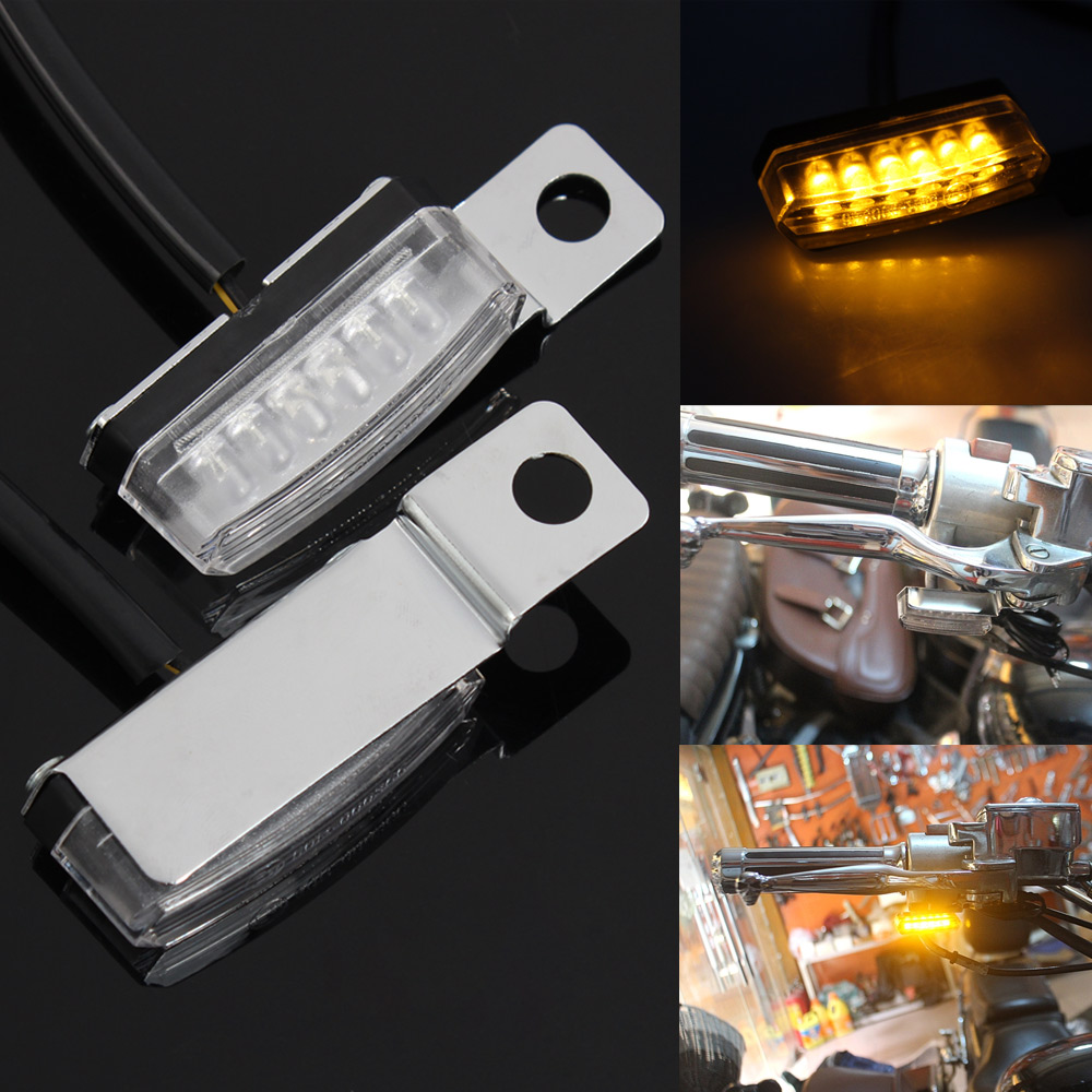 Motorcycle Front Rear LED Mini Turn Signal Light Blinker Light Indicators For Harley Bobber Honda Yamaha Cafe Racer Scooter ATV