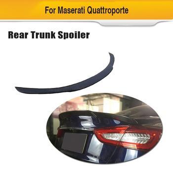 Car Rear Trunk Spoiler Wing For Maserati Quattroporte 2013  - 2019 Carbon Fiber Spoiler Boot Lip Wing