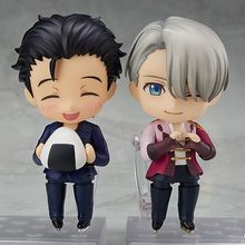 10cm anime yuri no gelo figuras katsuki yuri 736 #762 # victor nikiforov 741 # pvc figura de ação dos desenhos animados brinquedos coleção boneca presente
