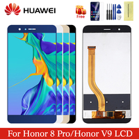 Original For 5.7 Huawei Honor 8 Pro LCD Display Screen With Frame + Touch Screen Panel Digitizer Replacement For Honor V9 LCD