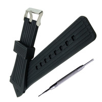 30 mm preto silicone borracha pulseira de relógio à prova dwaterproof água pulseira popular + ferramenta|watch band strap|band strap|watch band -