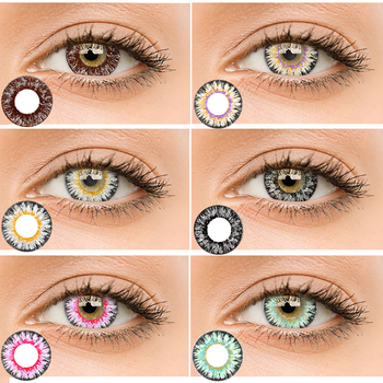 2019 Fantasy Yearly Cycle Women Soft Quality Colored Contact Lens Men Natural Eye Cosmetic Contact Lens for Men Women image