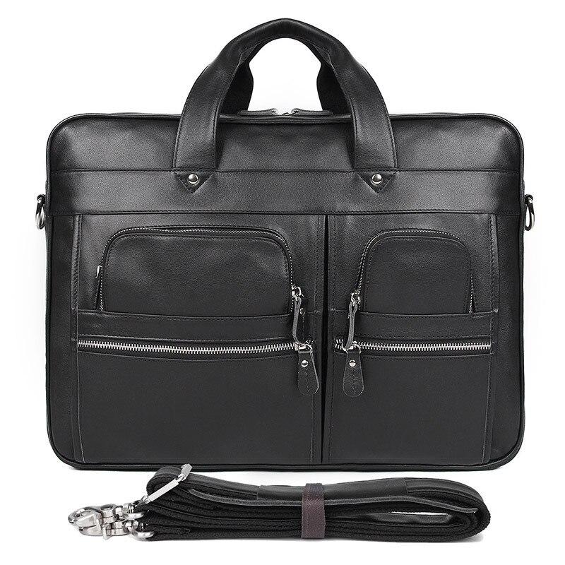 MAHEU Hoge Kwaliteit Mannen Aktetas Tas Op Trolley Case Business Handtassen Voor 17 Inch Computer Tas Zwart Bruin New Fashion mannen Tassen - 5