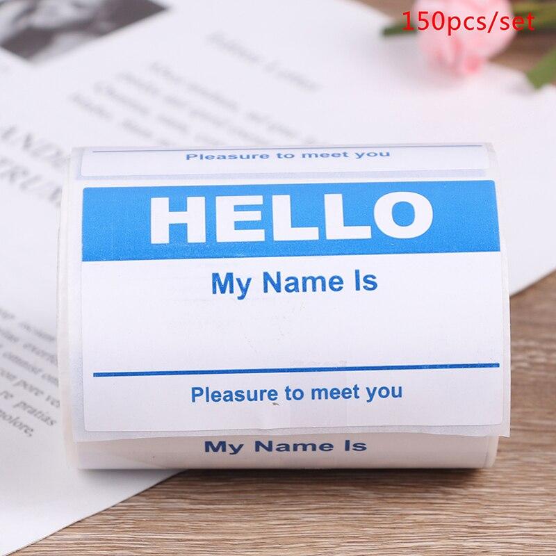 Бирка с именем «здравствуйте», наклейка с именем «мое имя», 150 шт., наклейка для объявления ребенка, реквизит для фотосъемки новорожденных, б...