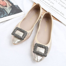 Luxury 2020 Women Shoes Ballet Flats Fashion Loafers Pointed Crystal Shoes Woman Slip-on Shallow Soft Bottom Zapatos De Mujer cresfimix zapatos de mujer women fashion pu leather slip on flat shoes female soft and comfortable black loafers lady shoes