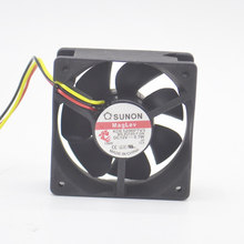 10pcs Brand New Lamp Fan Original Sunon GB1206PTV2-AY DC12V 1.7W 6025MM 6CM for Projector Blower Cooling fan alarm signal