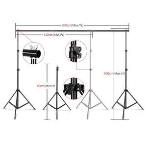 Image 2 - Support de cadre de fond de photographie Kit déclairage Softbox accessoires déquipement de Studio Photo avec toile de fond 3 pièces et trépied