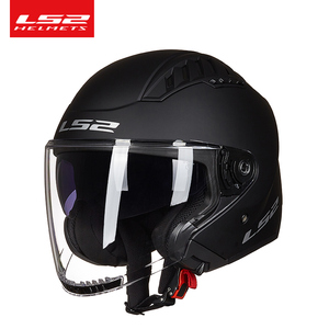 Image 5 - Ban Đầu LS2 COPTER Retro Moto Rcycle Mũ Bảo Hiểm Có Hai Ống Kính Xe Tay Ga Người Phụ Nữ Vintage Capacete Ls2 Of600 Mở Mặt Casco moto