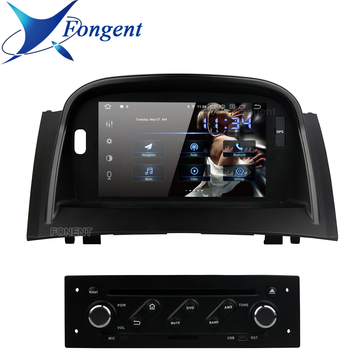 Car <font><b>Dvd</b></font> Multimedia Player For Renault <font><b>Megane</b></font> Ii <font><b>2</b></font> 2004 2005 2006 2007 2008 2009 Vehicle <font><b>Gps</b></font> Glonass Radio Stereo DSP Android PC image