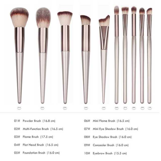 Luxury Wooden Makeup Brushes for Foundation Powder Blush Eyeshadow Concealer Lip Eye Make Up Brush Cosmetics Beauty Tools 2