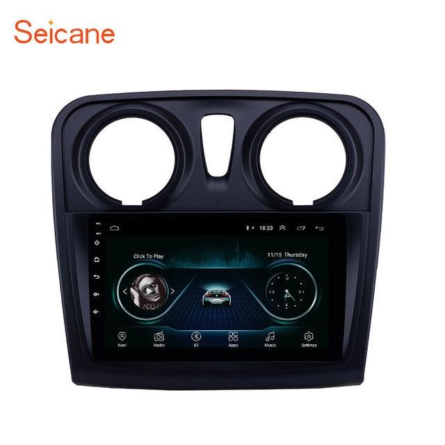 Seicane 9 inç araba multimedya oynatıcı 2 din Android 10.0 Renault Dacia Sandero 2012 2013 2014 2017 destek arka kamera