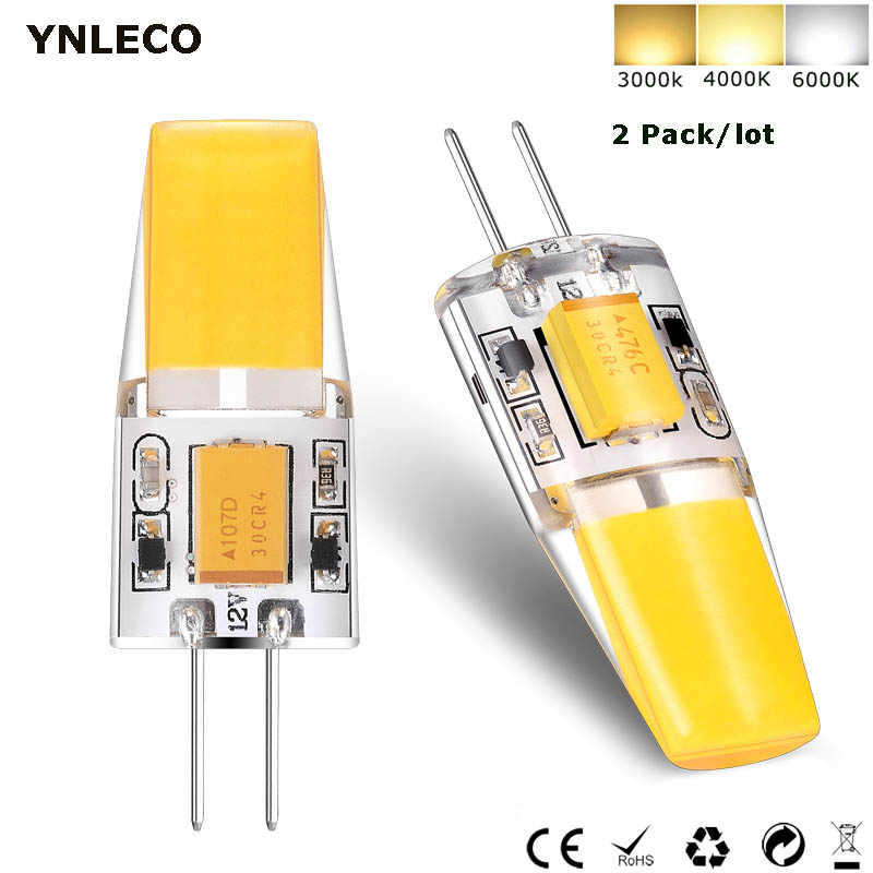 2PCS G4 LED COB Bulb 12V AC DC 3W LED G4 Lamp 360 Beam Angle No Flicker Warm Natural Cool White 4000K Replace 30W Halogen Lamp