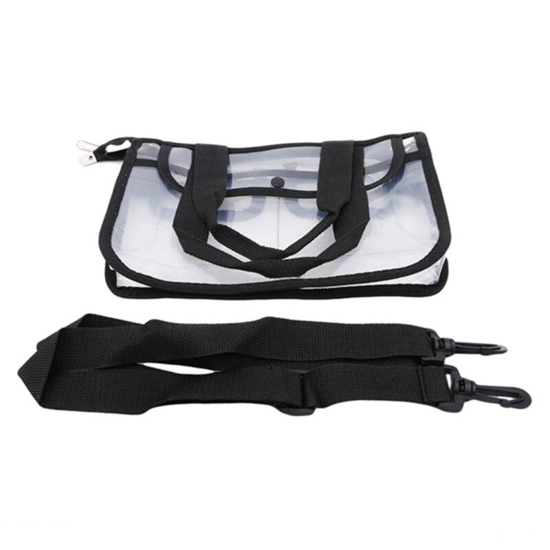 moda transparente um ombro saco de cosmeticos eva a prova dwaterproof agua viagem praia bolsa organizador