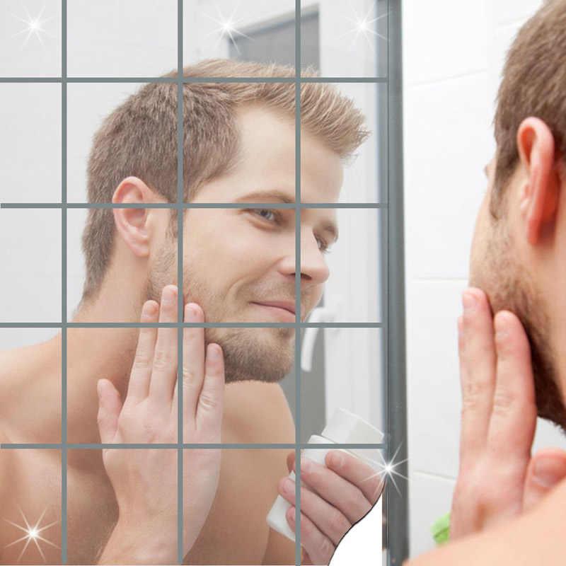 Phòng Tắm Truyền Hình Nền Nhà Gương Dán Tường Decal Tự Dính Ốp Dán 3D Gương Treo Tường Nghệ Thuật Nhà Decors Treo Tường deca @ 1